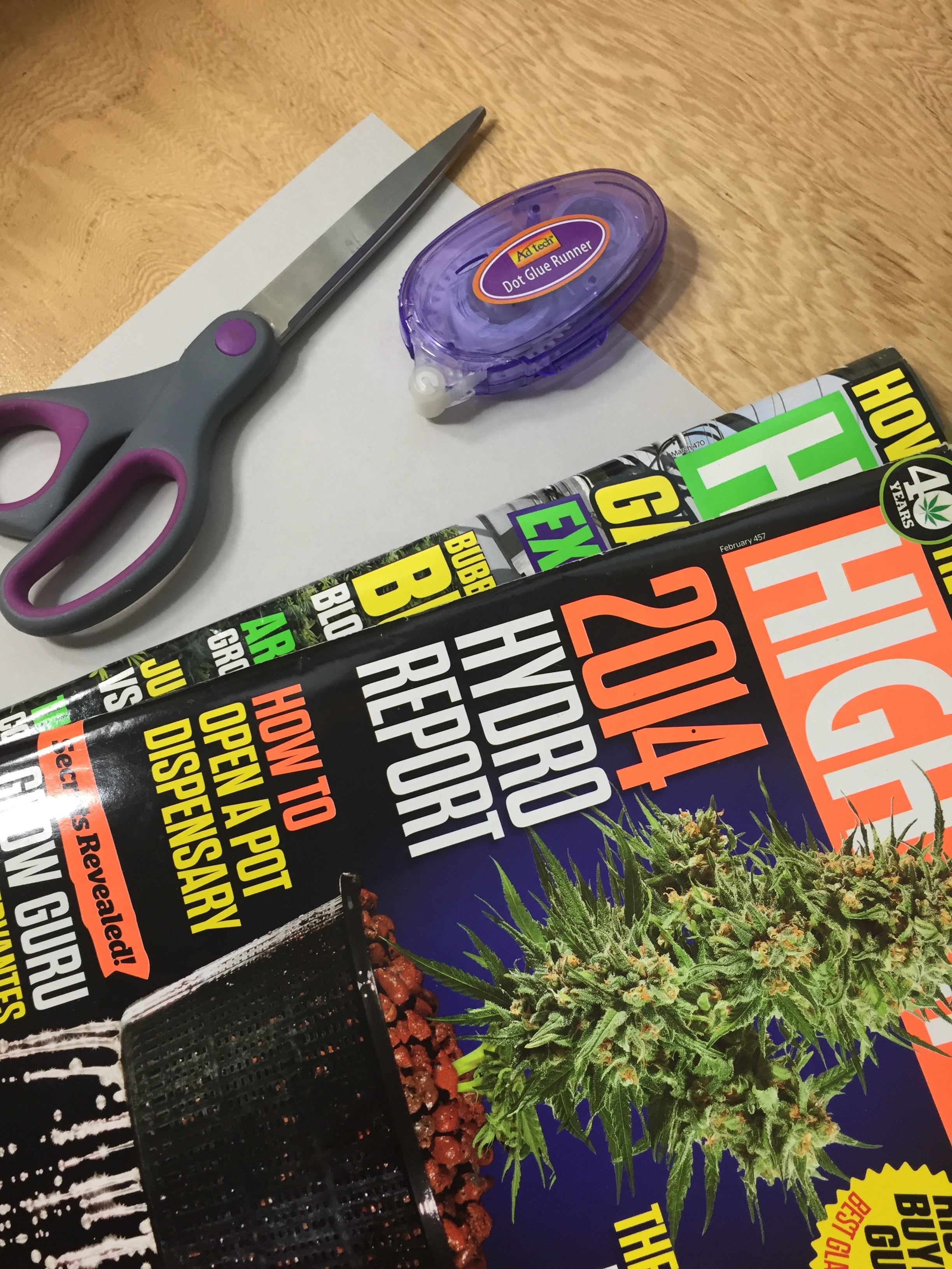 Craft Supplies for High Times Magazine Collage