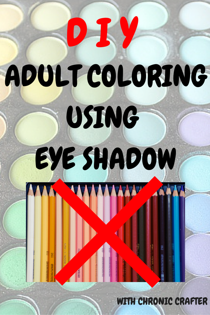 adult coloring with eye shadow makeup
