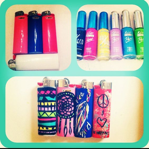 christmas gift for stoners decorated bic lighter