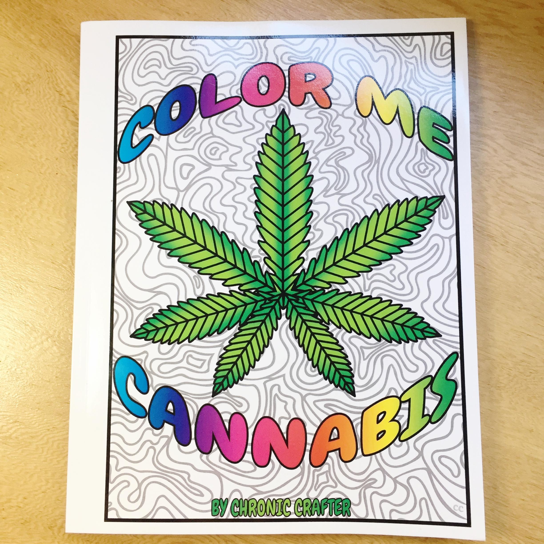 color me cannabis marijuana coloring book stoner gift