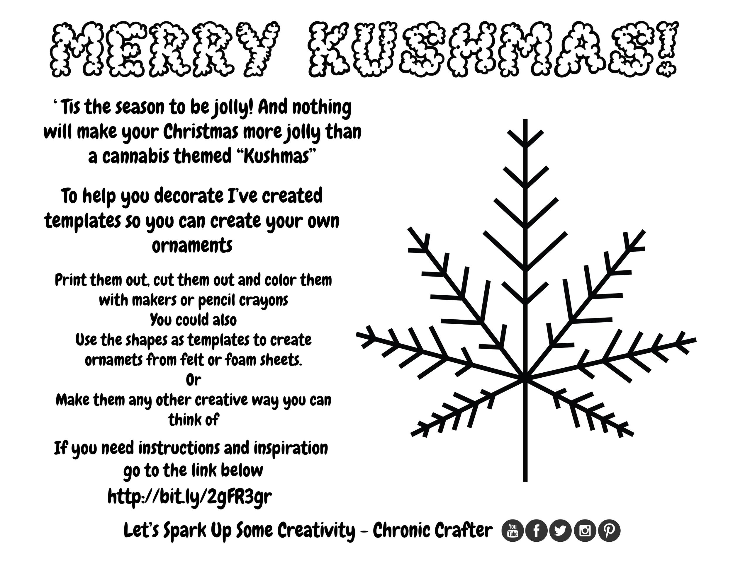 DIY Marijuana Themed Christmas (Kushmas) Ornaments a Reefer DIY