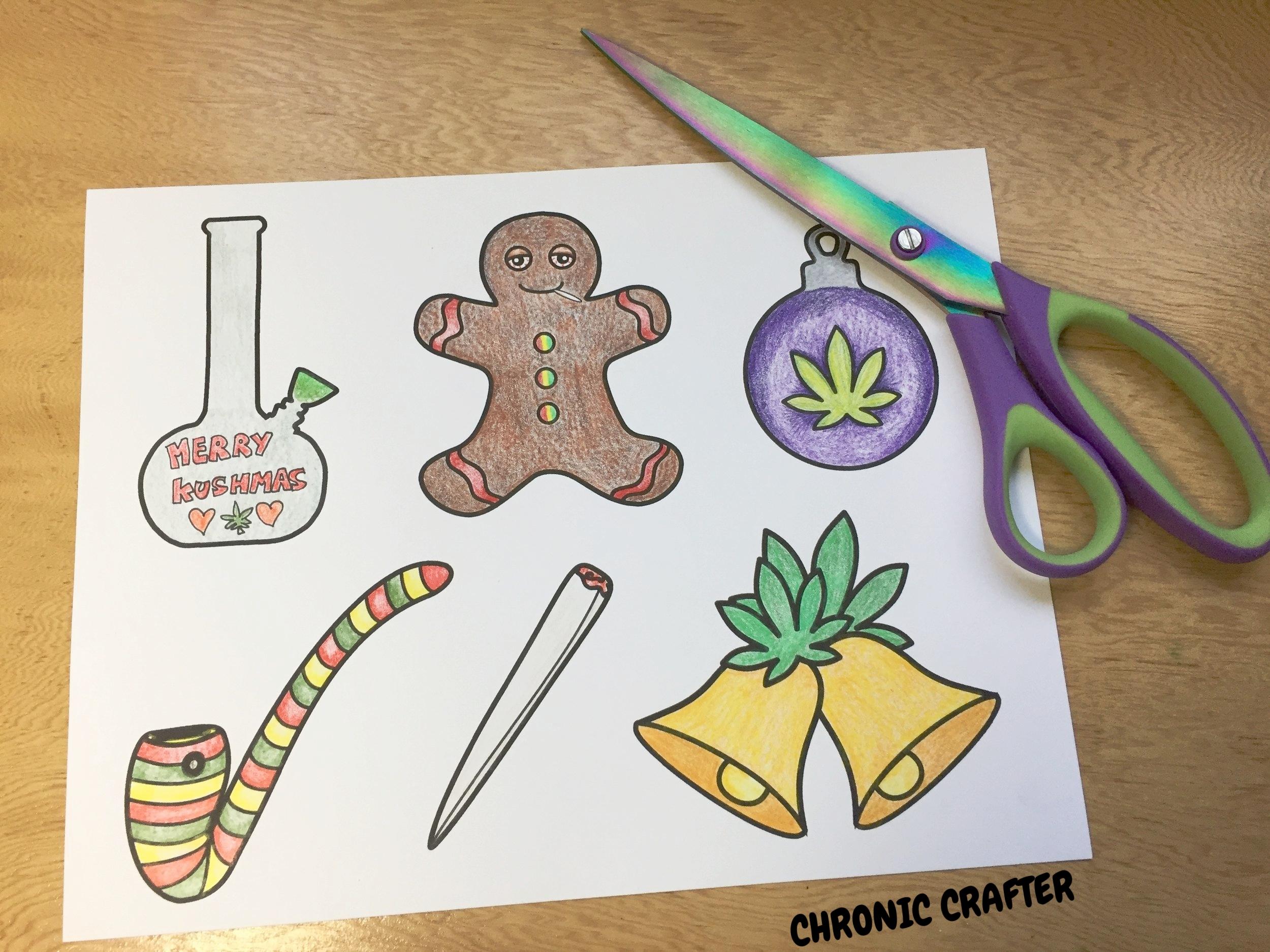 DIY Marijuana Themed Christmas (Kushmas) Ornaments Tutorial