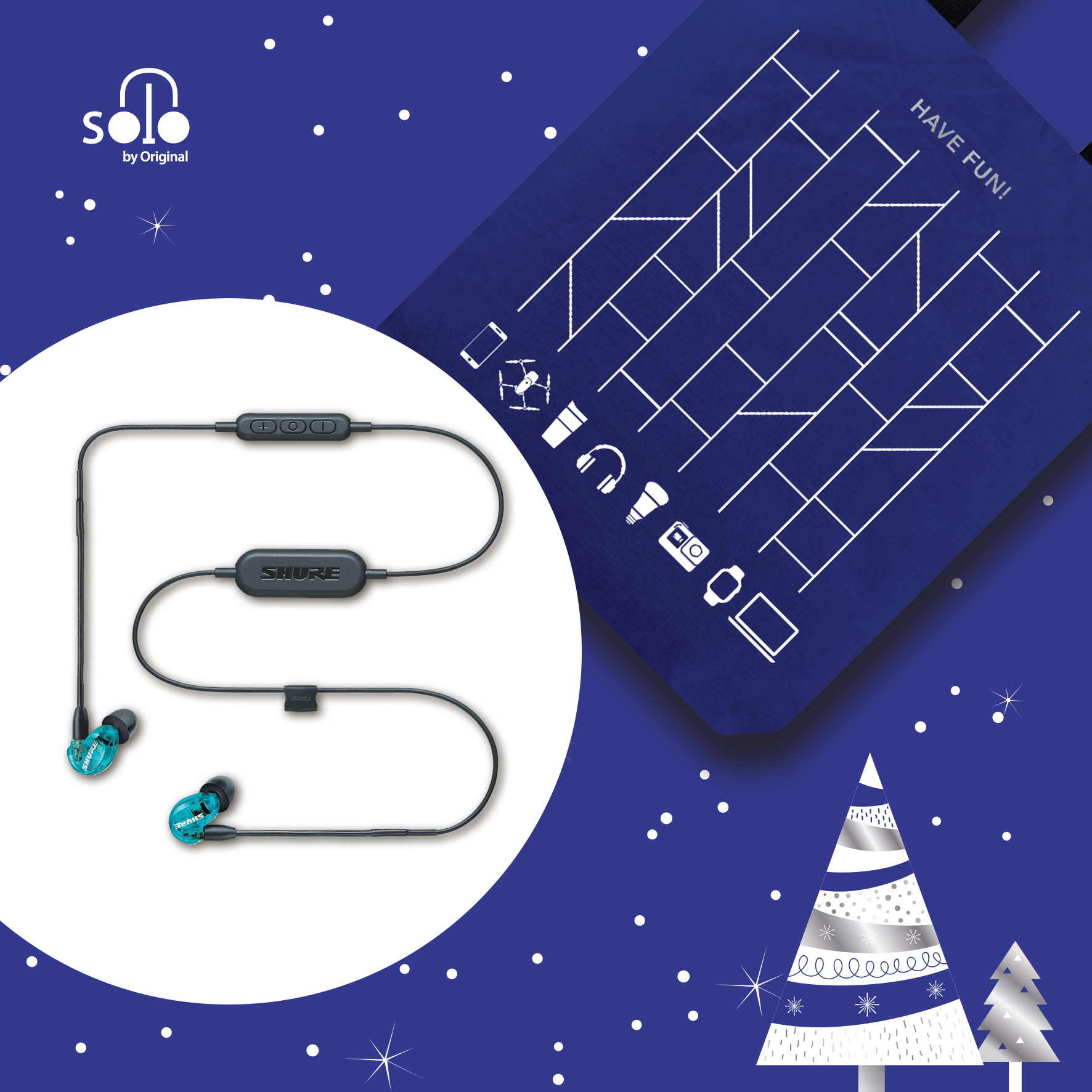 Shure 215 Wireless Earphones 無線入耳式耳機 - SE215 將 Shure 的音色帶到藍牙型無線耳機之中,單次充電可連續使用 8 小時,而每次更可同時連接兩個設備,在 10 米範圍內帶給你自由而且低音豐富的音樂。耳機線上同時具備按鍵控制及免提通話功能,不論通話、語音指令,或日常使用都可以應付自如。SE215 is the combination of Shure's audio performance and Bluetooth's convenient connectivity. With up to 8 hours of battery and a range of 10 metres, the earphones can pair 2 devices at once to deliver powerful music; also featuring remote control, and a microphone for phone calls and voice commands.