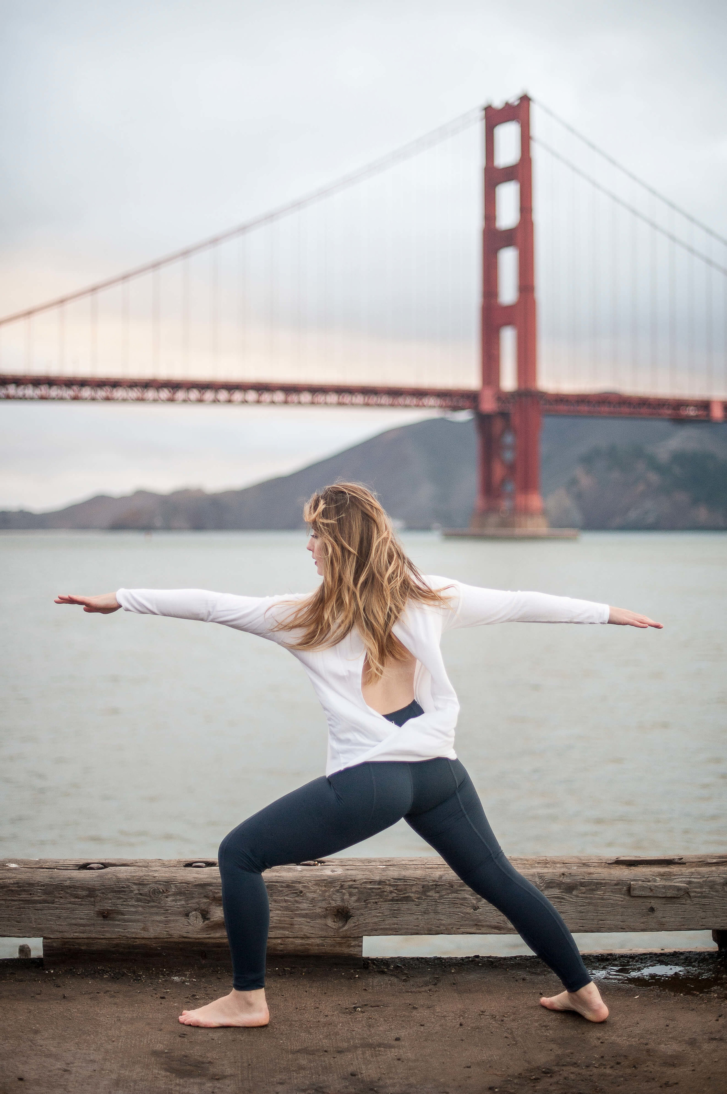 Haven Found - My favorite ambassadorship. ADL & Haven Collective shot three yoga styles on a barge under the Golden Gate Bridge in the middle of winter.