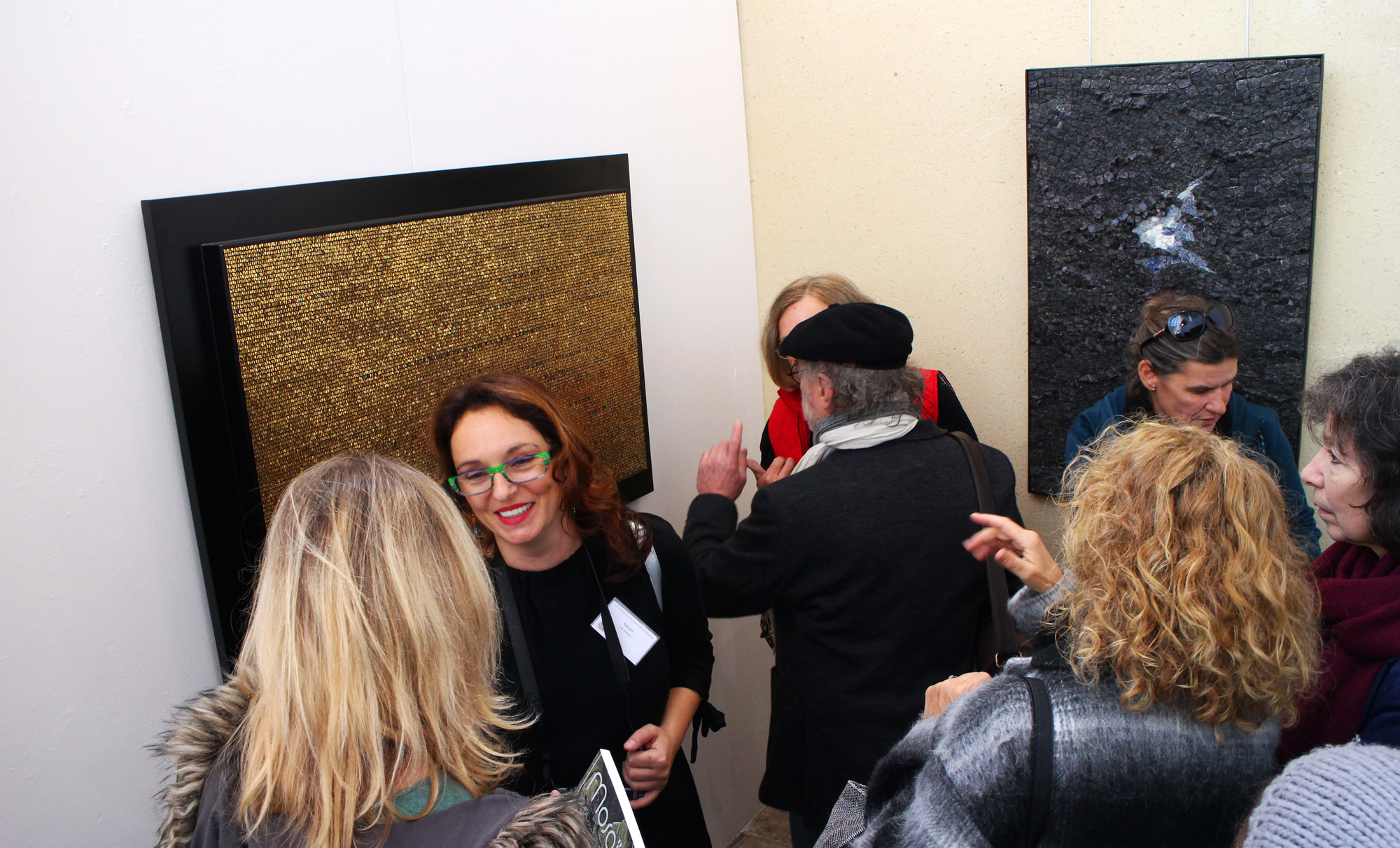 Chartres in action. Myself pictured with Isabelle de Sa Moreira and Gerard Brand.