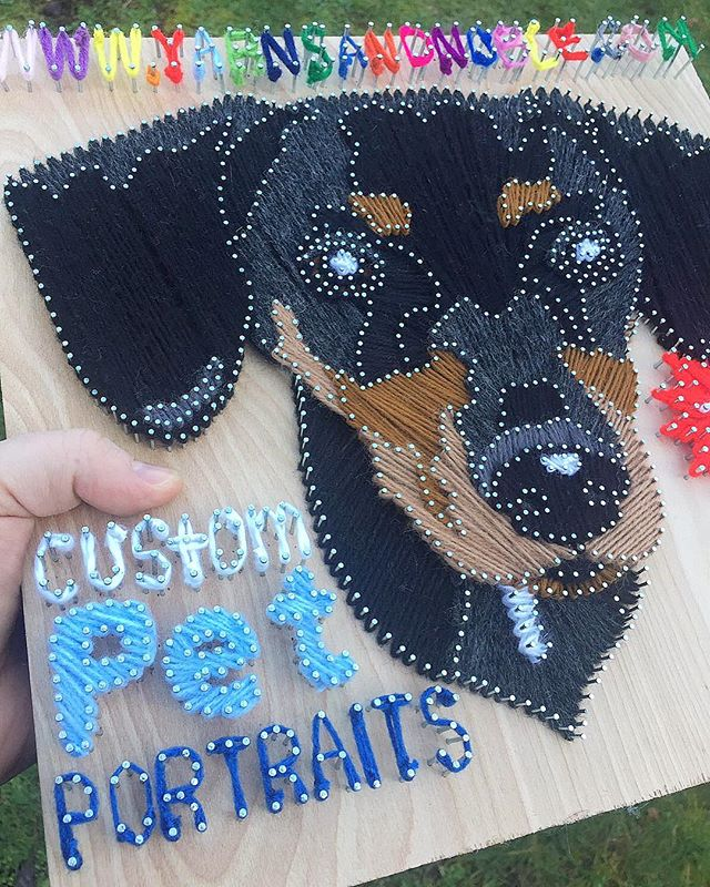 I'm doing just a little bit on this daily as I'm working on other pet portraits. I'm booked up for the next 2-3 months with them! Thanks to all of you for the support☺️ #yarnsandnoble . . . #petportraits #petportrait #stringart #yarnart #typography #design #graphicdesign #dogs #dogsofinstagram #art #instart #inspiration #crochet #knitting #type #handmadetype #handmade #local #seattle #seattleart #seattleartist