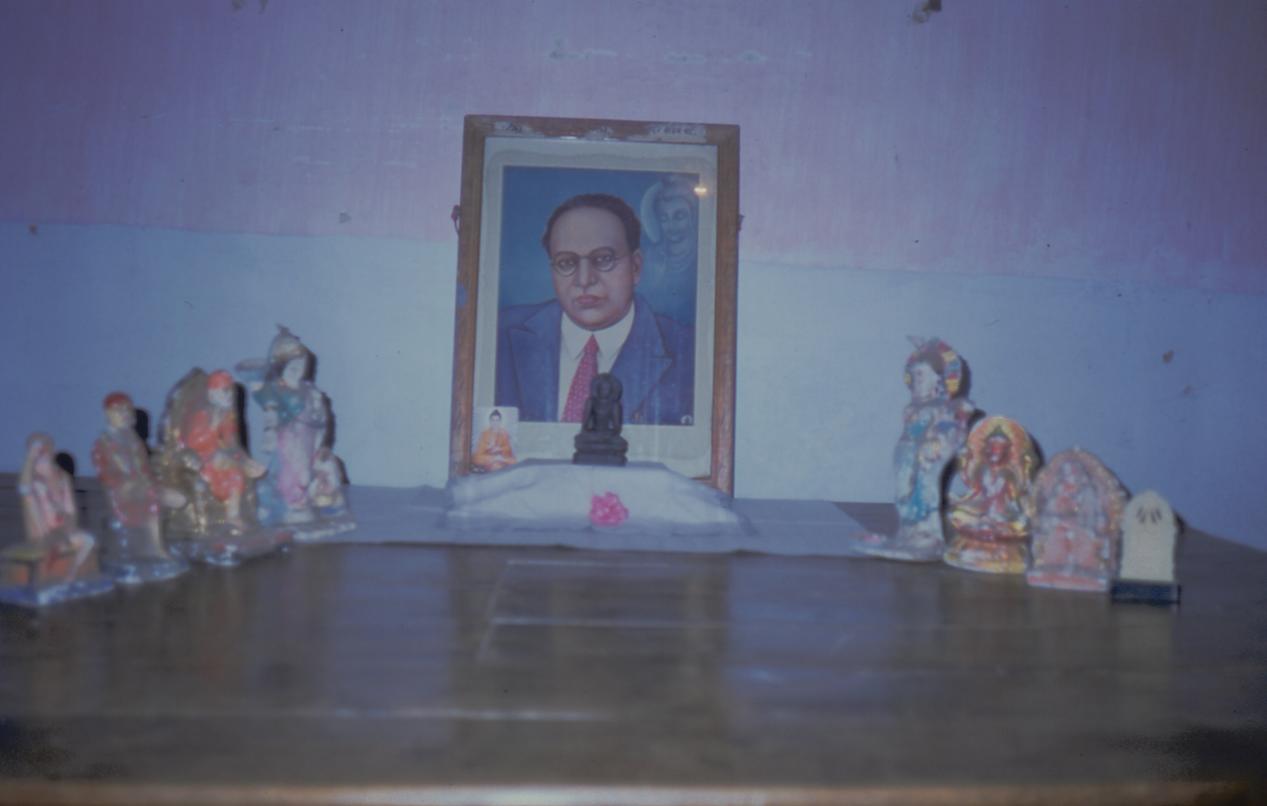 I remember this situation very well. We travelled in many villages and so on and we found there was a lot of confusion about Buddhism. Some may misunderstand what I say, but people were worshipping the old gods and trying to understand Buddhism at the same time. Ambedkar had been very categorical, he said look you can't do both. If you continued worshipping the old Hindu gods, that meant implicitly accepting your status in Hinduism. It was just a bit like a tug of war you know, if the sides are equally pulled then you can't really make progress. So without being antagonistic to the Hindu gods we just made it clear that you've got to choose. In a few places people would bring out their old gods, and this was one such place.