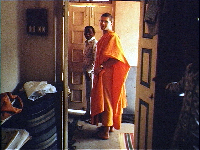 I loved the simple life; I loved just having two sets of robes, not having to comb your hair or choosing what clothes to wear, not having any choice. It was a very good experience. And it made life so much easier. I just wore rubber flip-flops everywhere, and kept a shirt and jeans to wear to England every year. It was a wonderful, wonderful experience and a valuable part of my life. One that I don't regret in the slightest.
