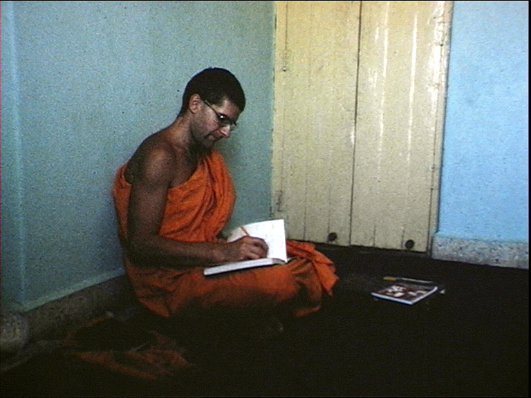 I became a monk when I was in England. My teacher Sangharakshita talked to me about becoming an Anagarika, which is a sort of freelance monk. If you're a proper monk you take 220 vows or something; you can't handle money, you can't do this, this and this. It makes it very difficult to actually do anything. So I thought well, let me become a monk just for that period. I think it did sort of enhance my visit to the Buddhist holy spaces.