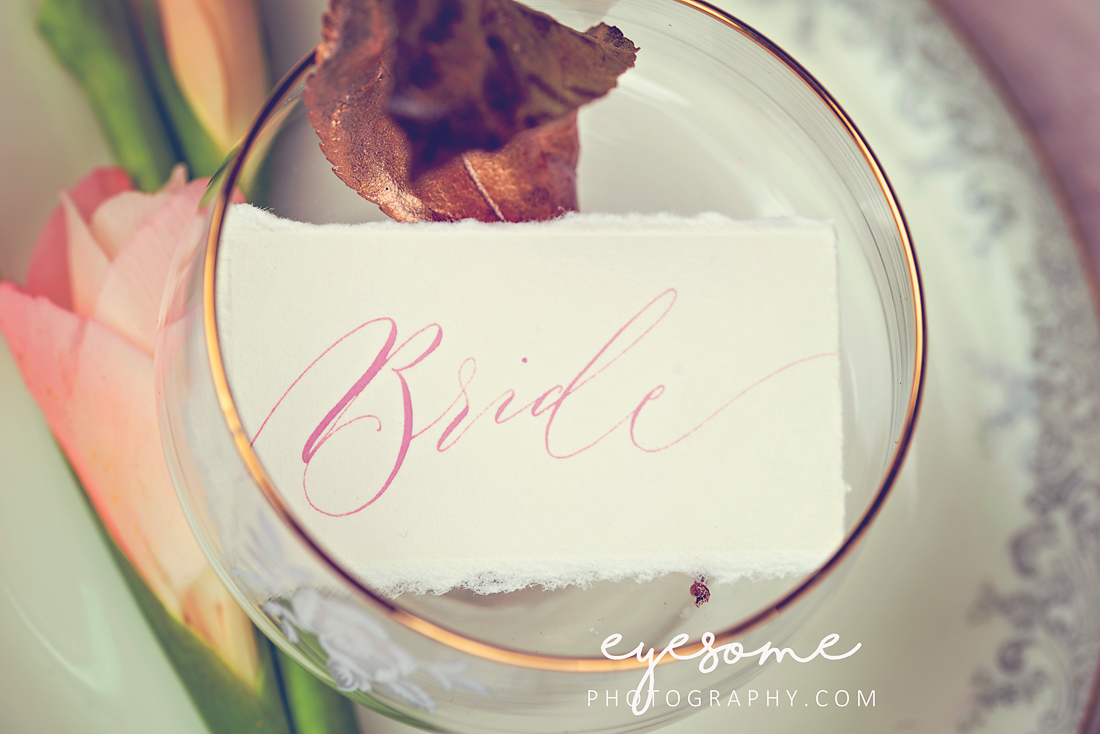 Wedding breakfast place settings with a slightly rustic twist