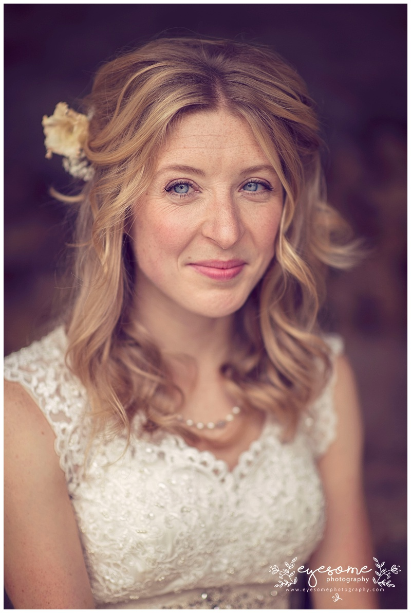 Bride, Becky, made (even more) beautiful by make-up artist Lucy