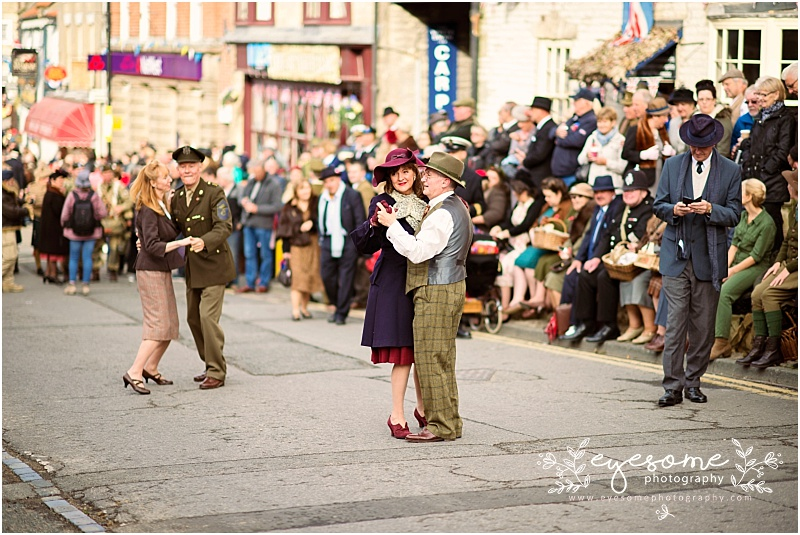 Pickering and its tiny streets are always packed with visitors dressed to the nines, and dancing all day long