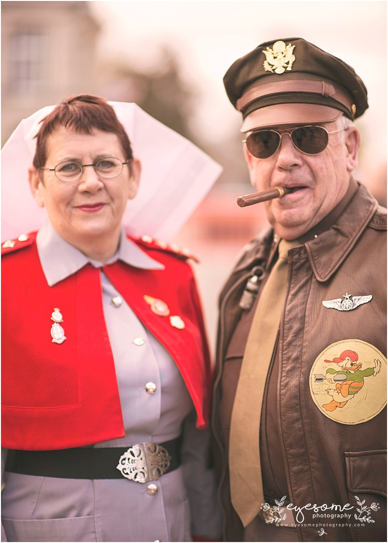 A nurse and a General? Why not! This is Pickering's 1940s weekend after all!!