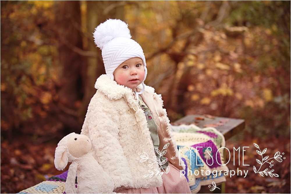Scrumptious baby Amelie sports the most wintery of accessories, all upstaged by a pink tulle skirt. A veritable winter fairy.
