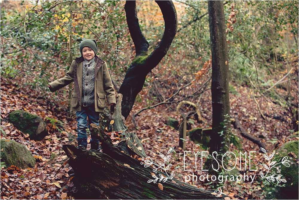 The perfect location for little boys to explore, this woodland has lots of interest for portrait variety, and enough to keep the children smiling and relaxed.