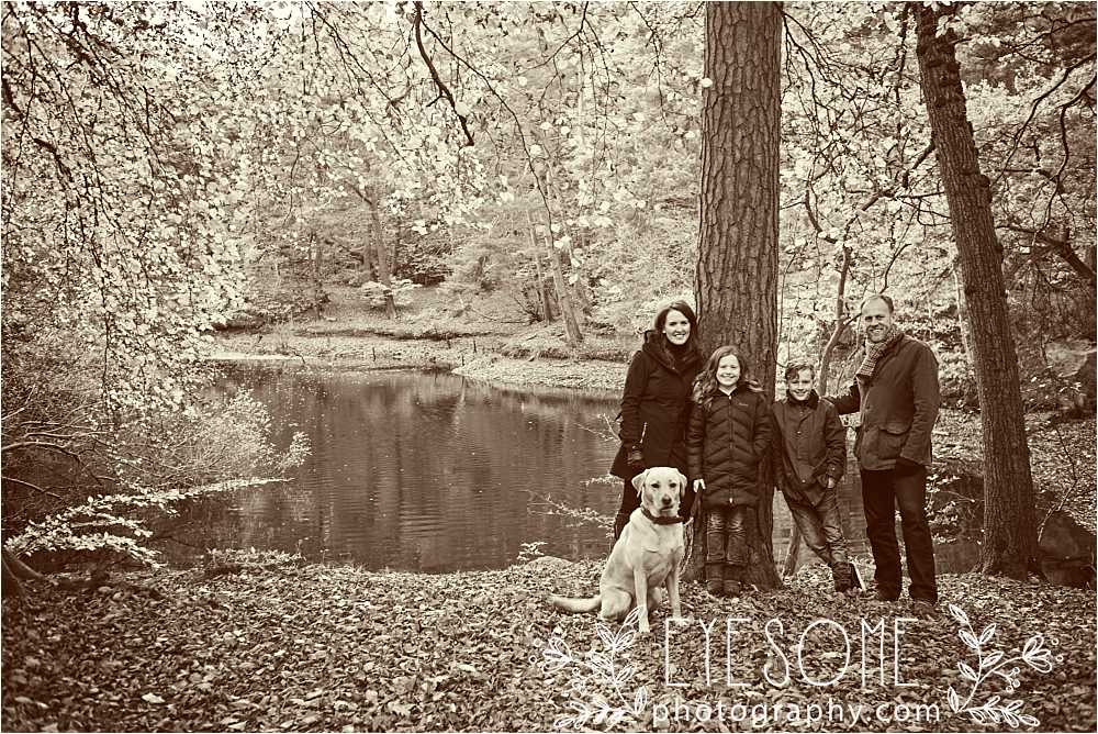 The lovely family who thought they were off for a calm and relaxing photoshoot. Little did they know!