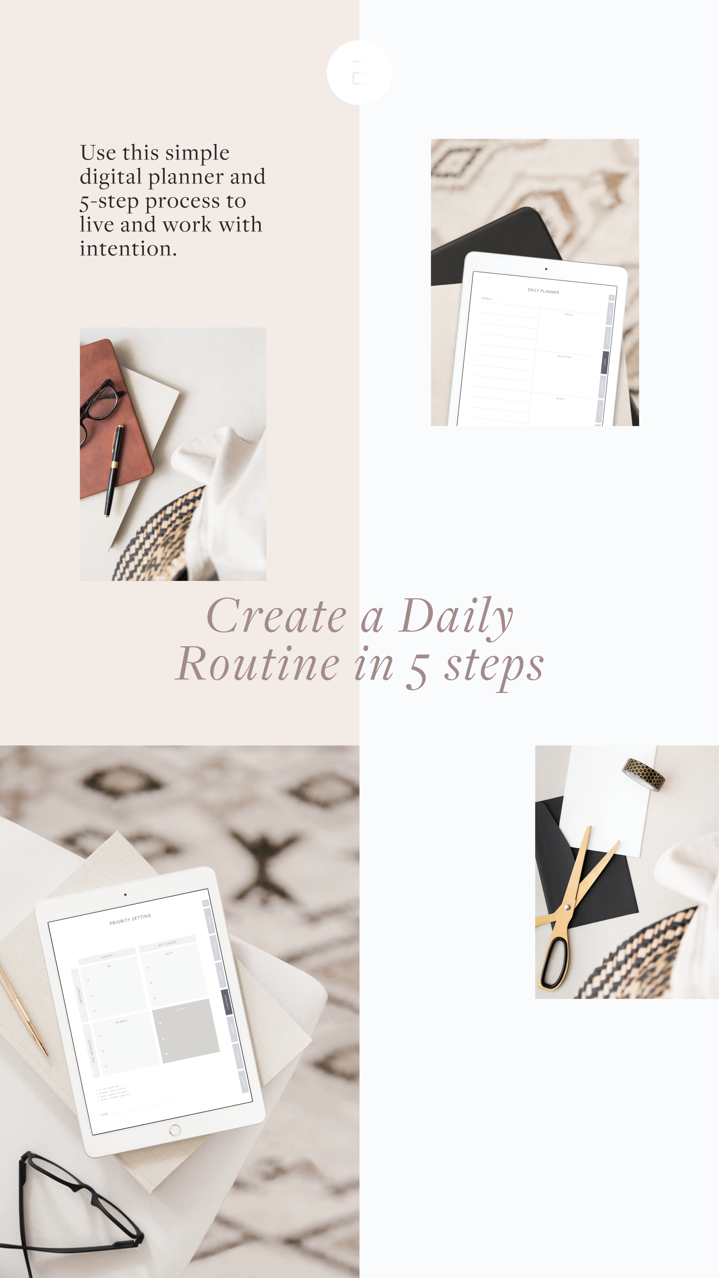 Create your daily routine with this online planner in just 5 steps