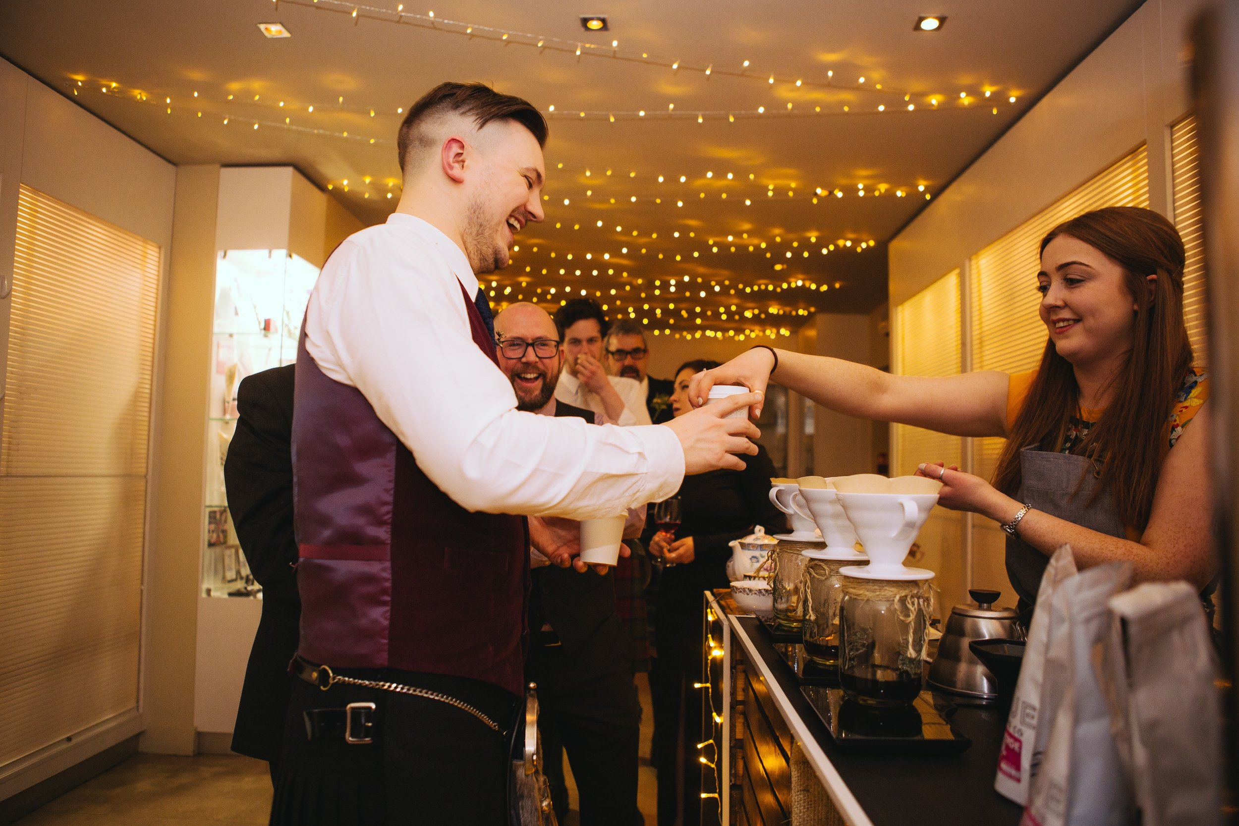 speciality coffee mobile brew bar hire special event corporate party office christmas wedding
