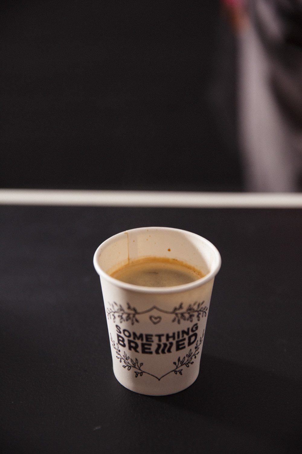 Long Black Double shot of espresso with a little hot water. Strong and black.