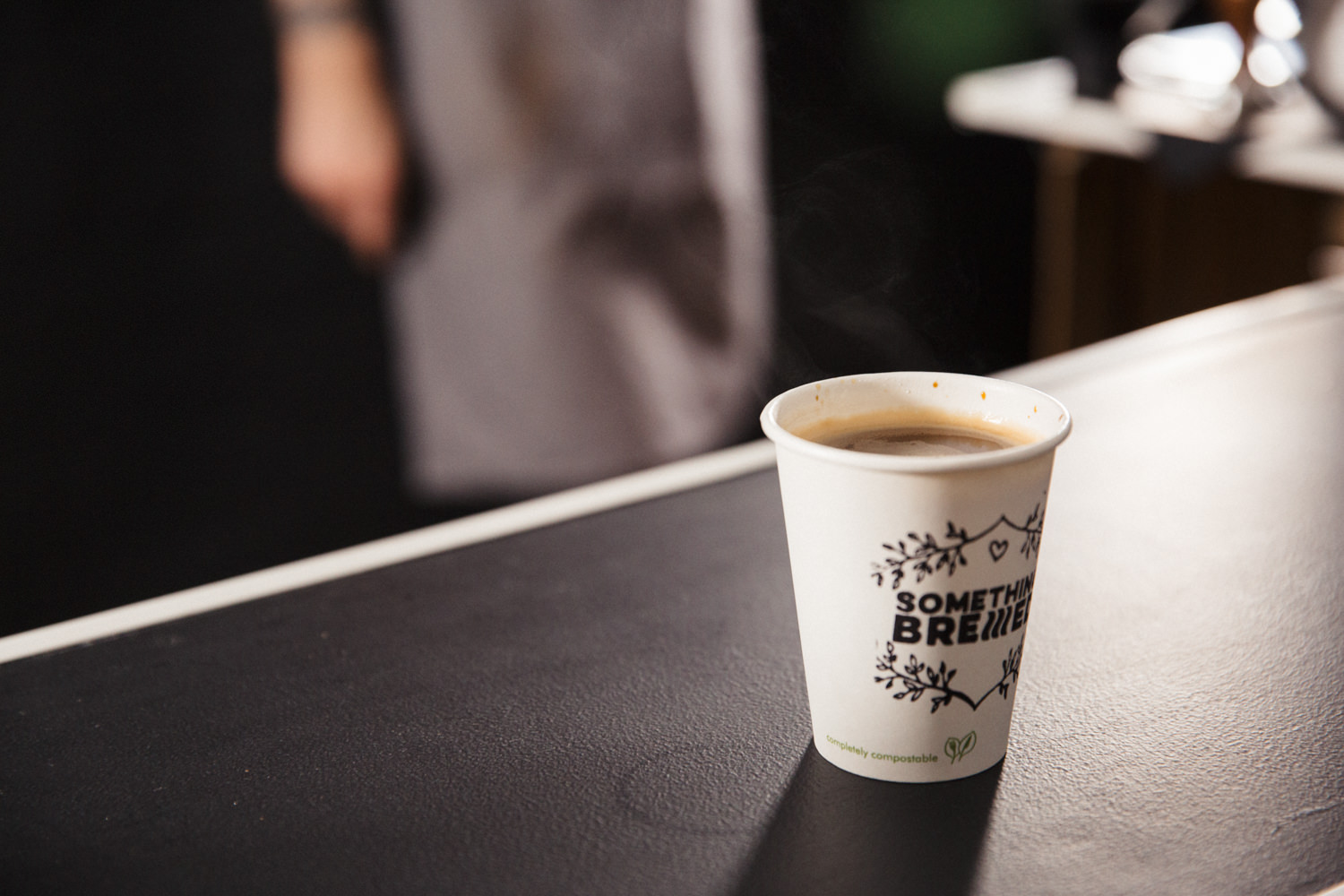 Americano Double shot of espresso filled with hot water. Smooth and black or perfect with a little milk.
