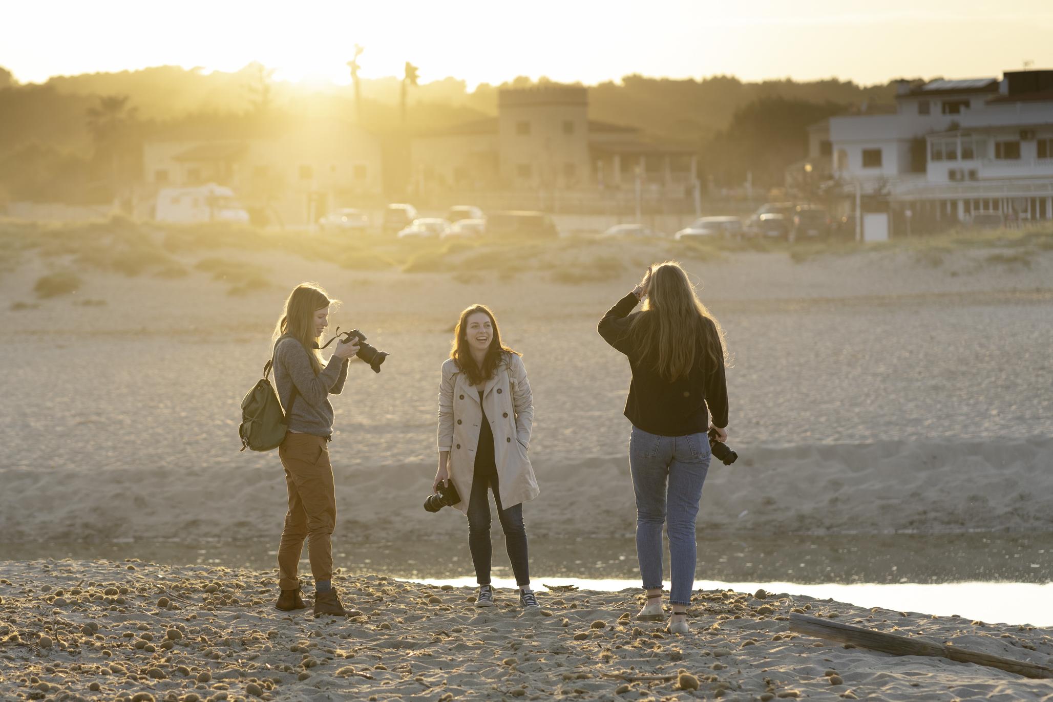 LIK Akademie Schüler bei den Medienprojekttagen auf Mallorca. Foto: Iris Höller