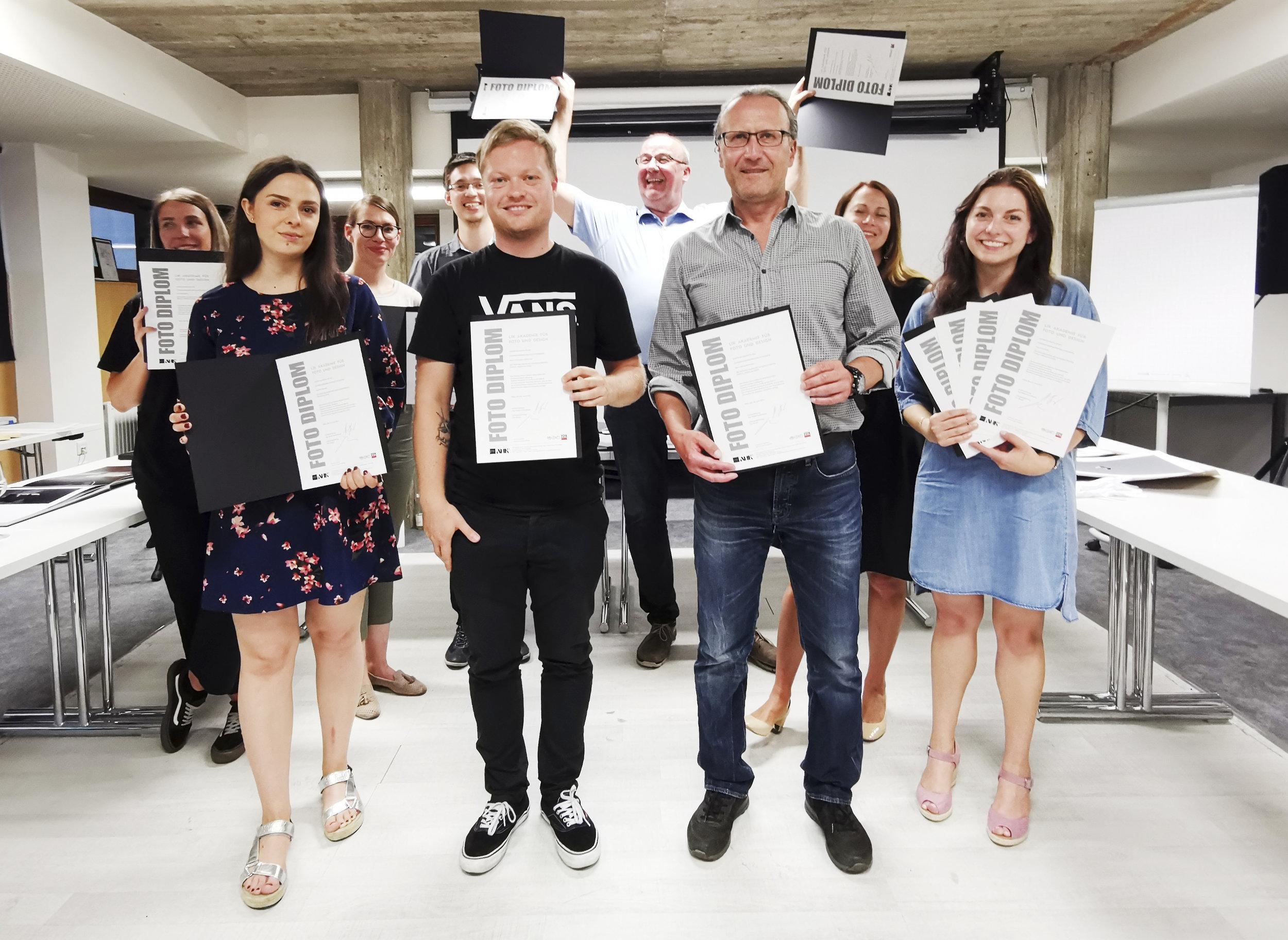 Absolventen des LIK Diplomlehrgang digitale Fotografie in Graz