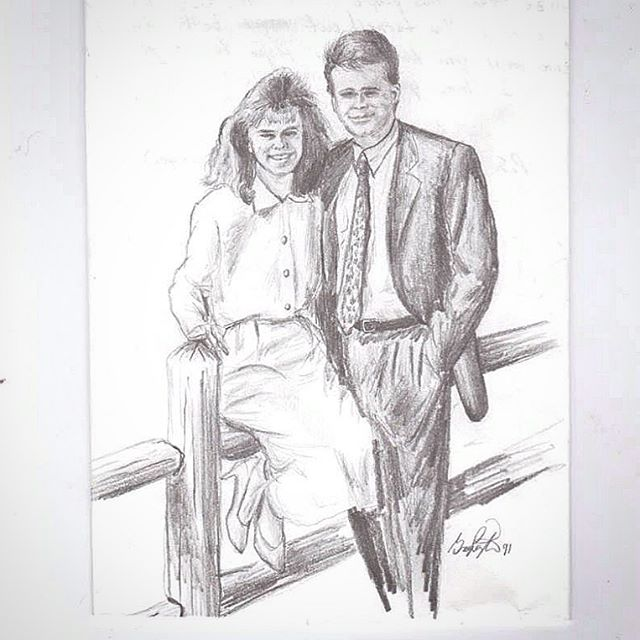 Happy Mother's Day to this beautiful girl who I married back in 1994. This was a drawing of us I did when we were dating