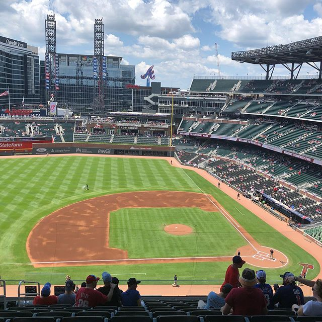 A little family vacation to an Atlanta Braves game today! #atlantabravesbaseball