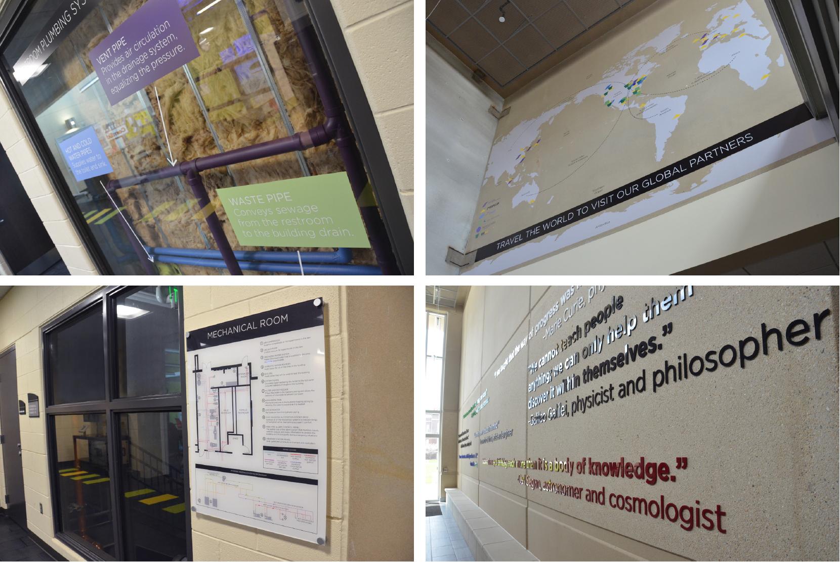 Exhibit Signage, John C. Dunham STEM Partnership School