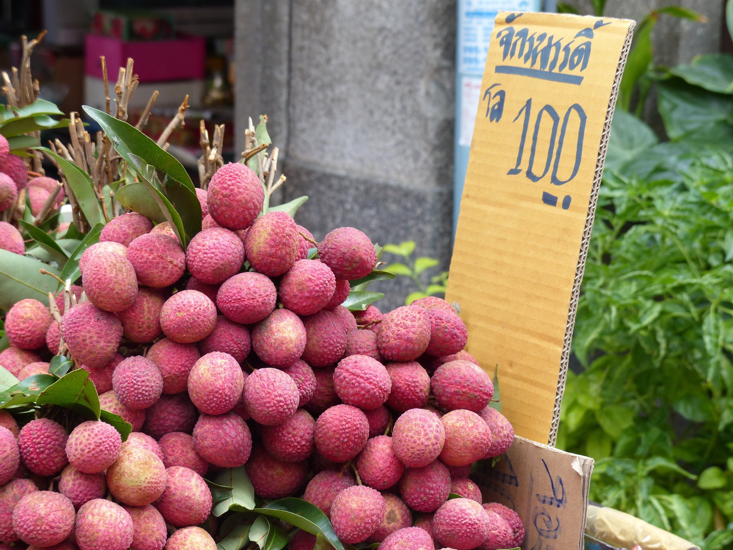 Thai fruit plus thai writing is a winning combination in my book.