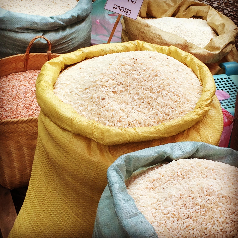 luang prabang market rice