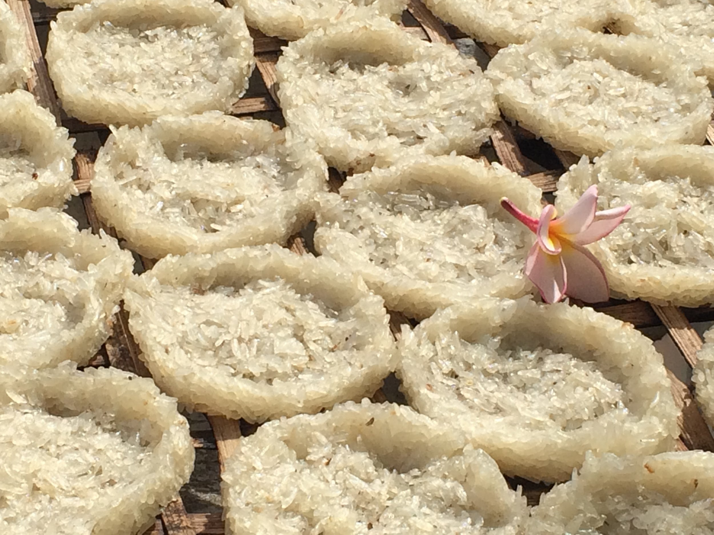 I never did figure out what these Lao rice cakes were for