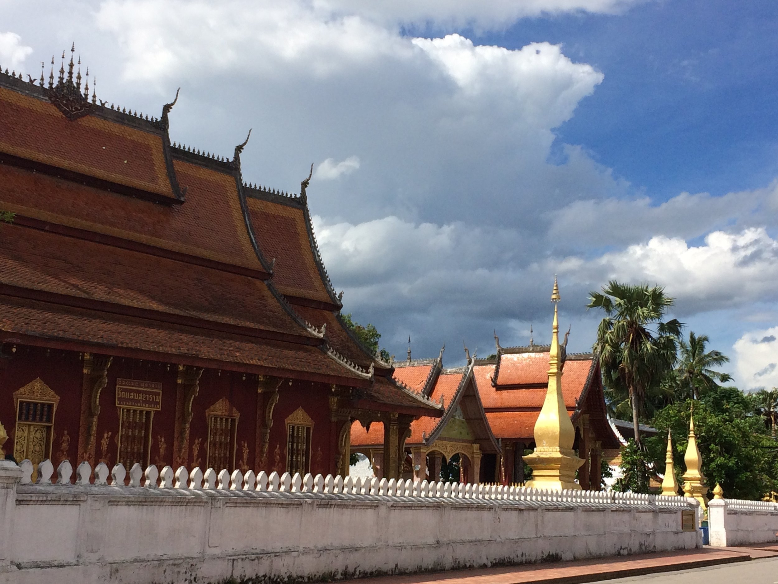 Our walks in Luang Prabang took us past one of these temple grounds every few minutes.