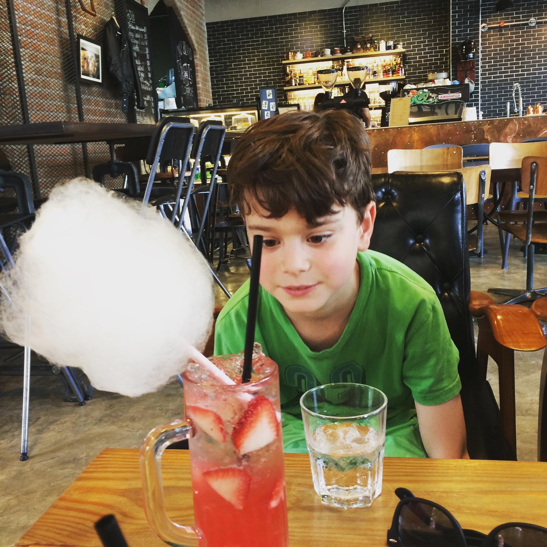 So in Bangkok Italian soda comes with cotton candy?