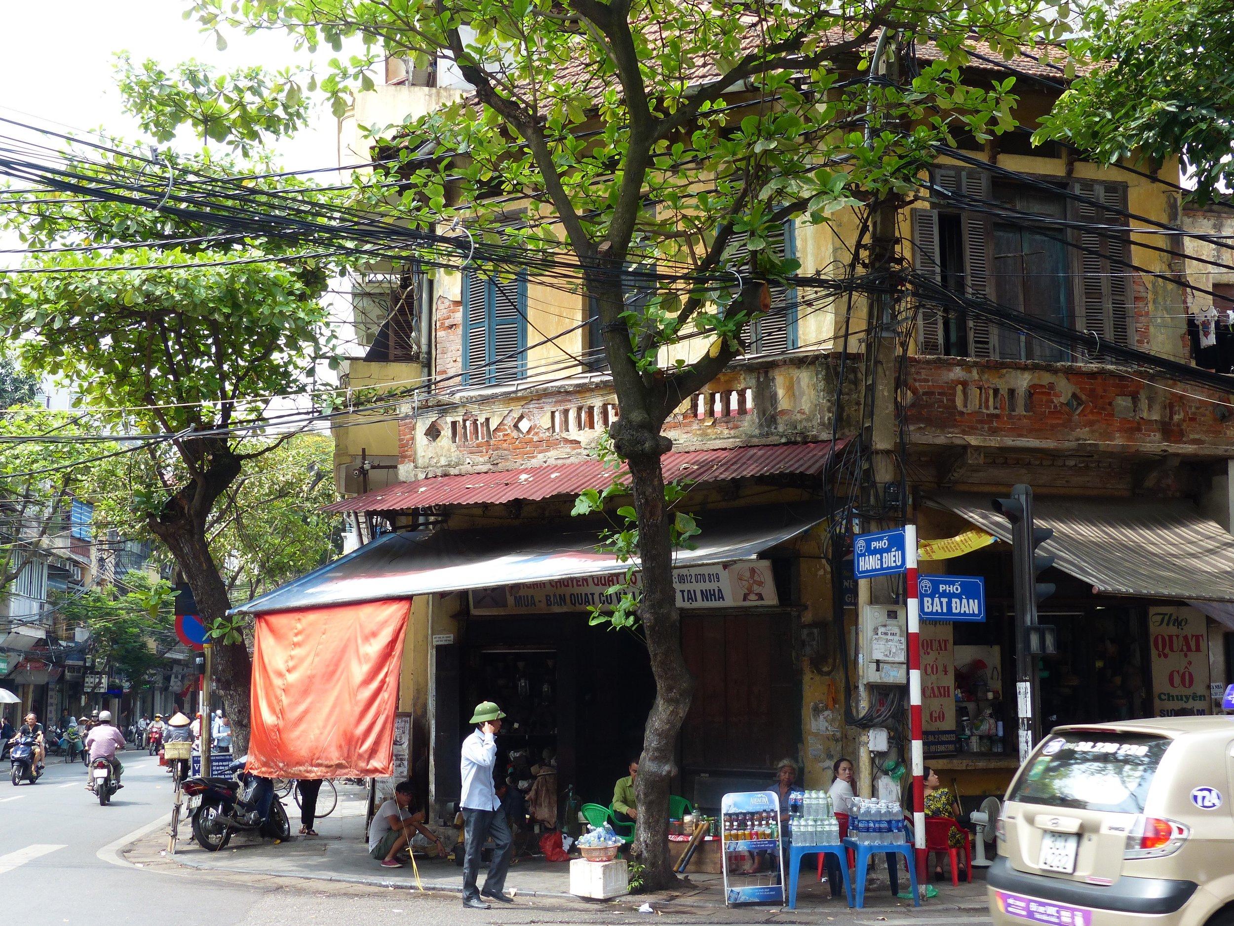 Hanoi street corner
