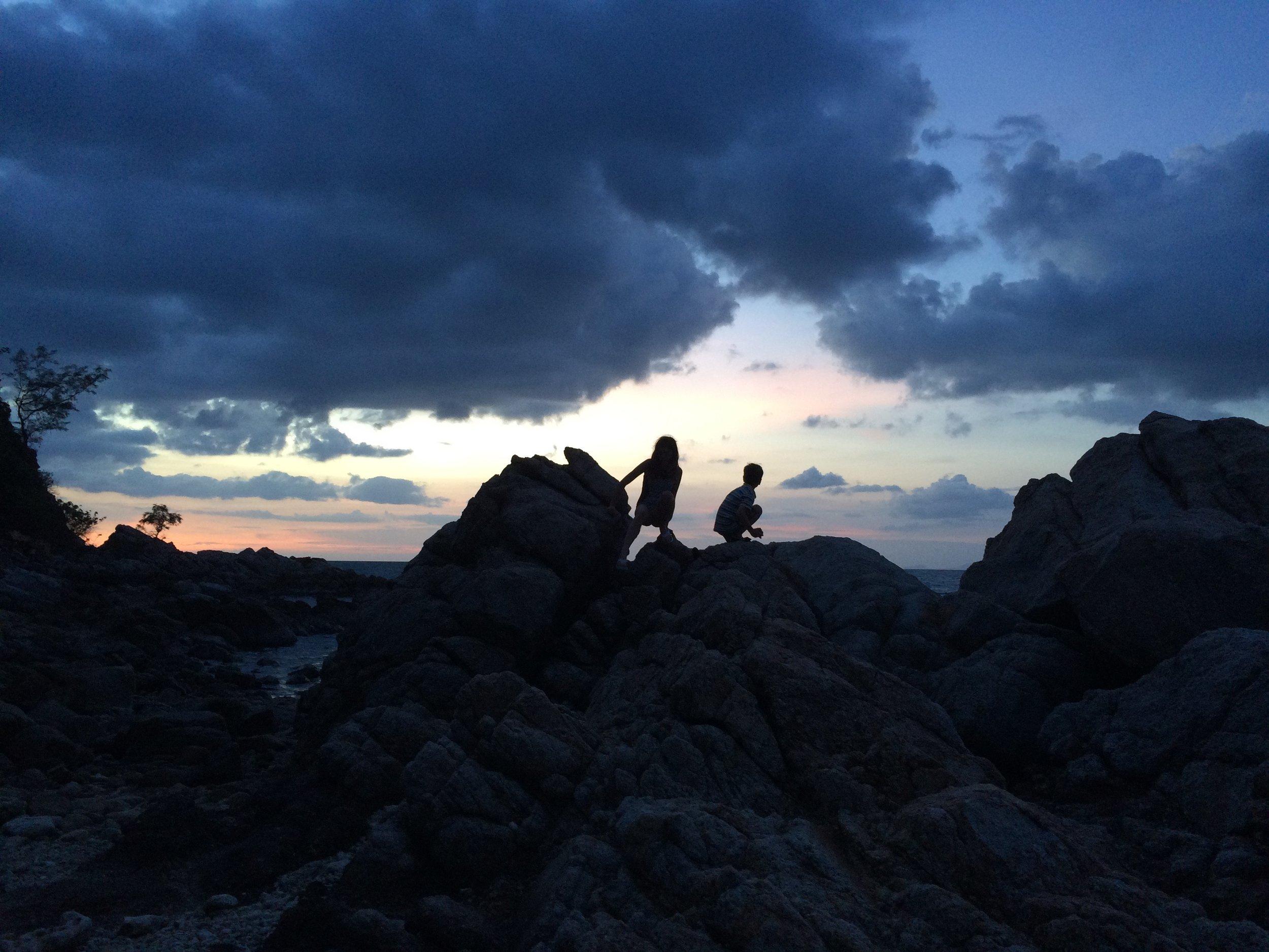 Climbing rocks in Koh Phangan