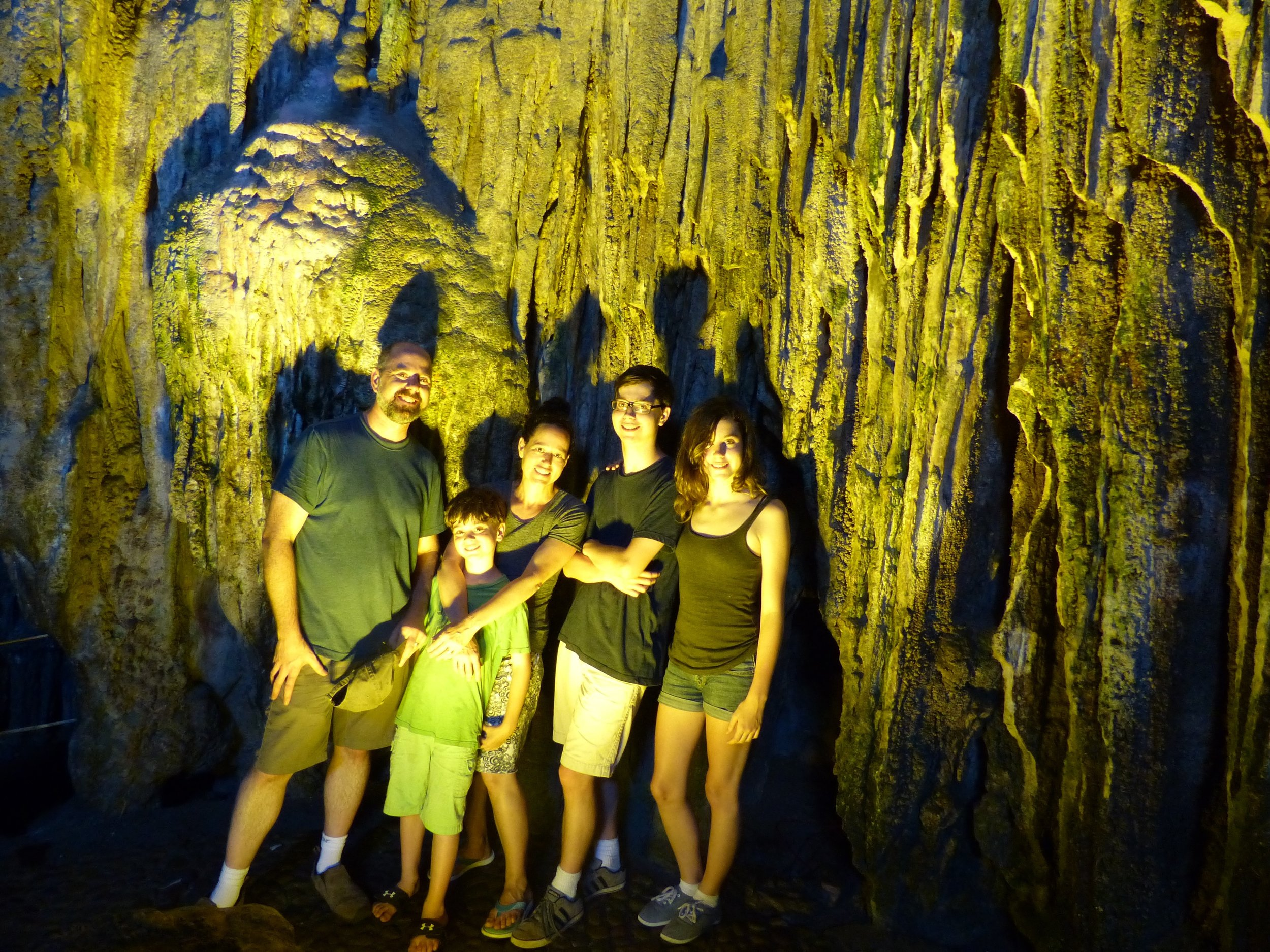 Our trip included a tour of this old pirate cave.