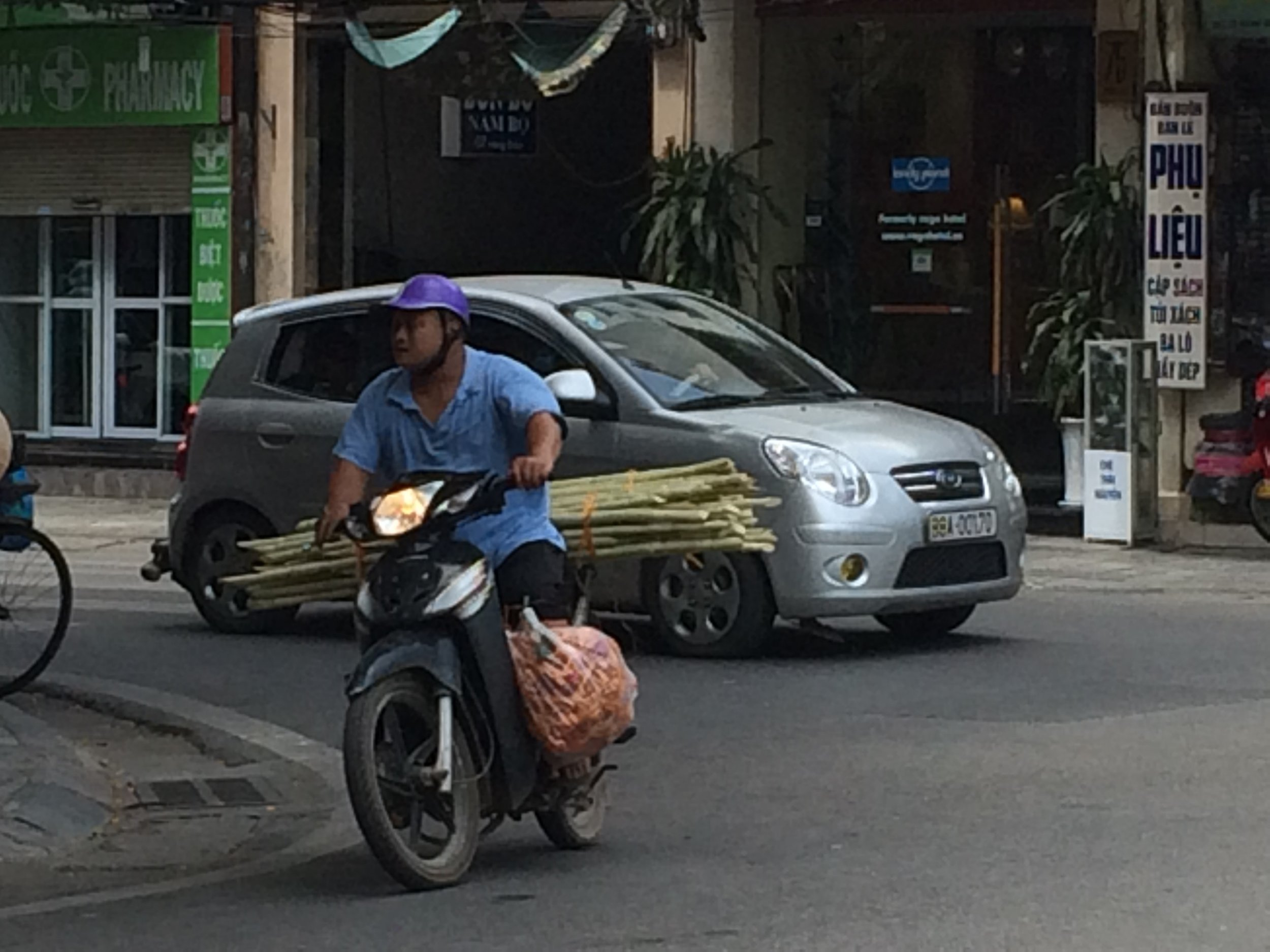 What is the oddest thing one can carry on a scooter?