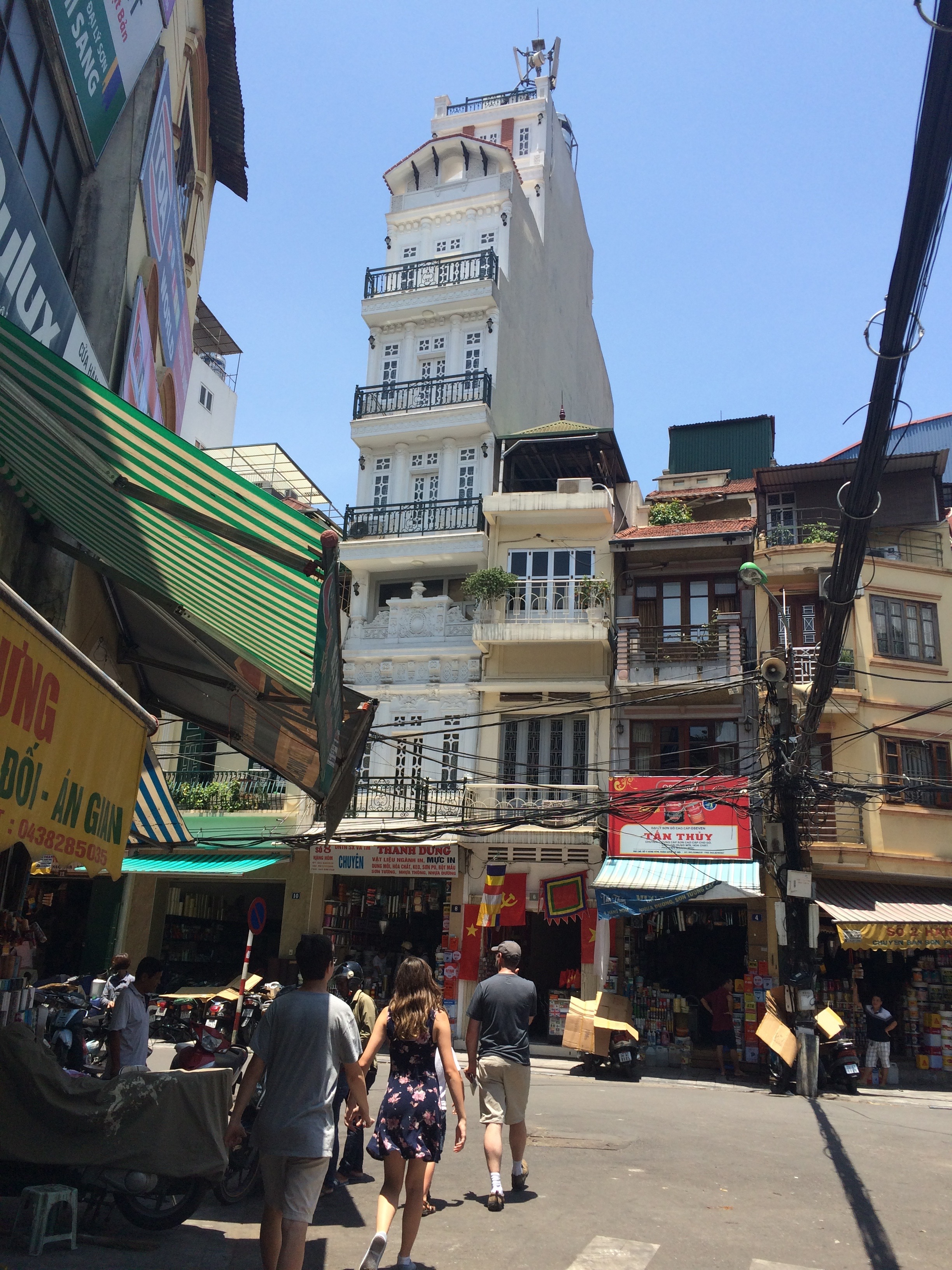 Why are buildings so tall and skinny in Hanoi?