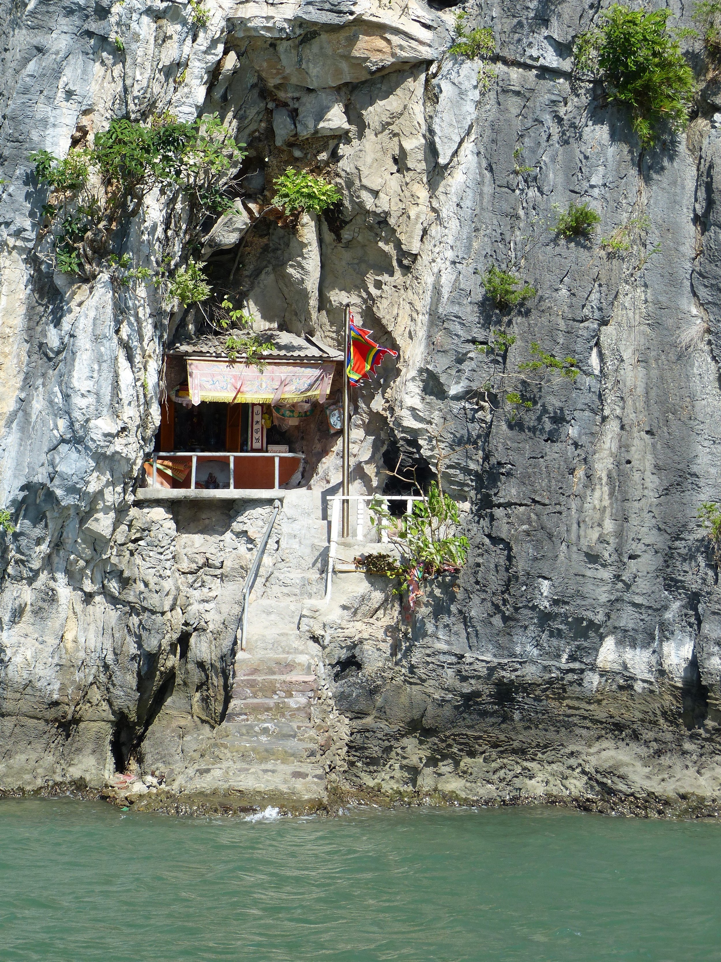 Is that a shrine cleaved into the rock?