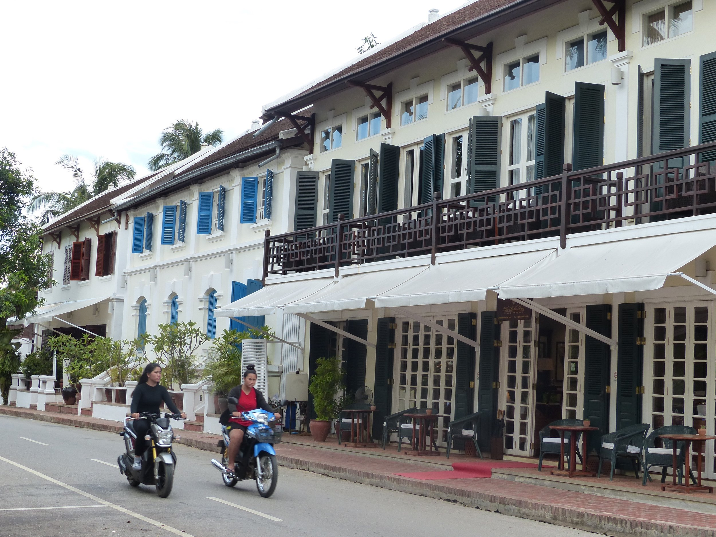 This confluence between French colonial architecture and old Lao architecture...