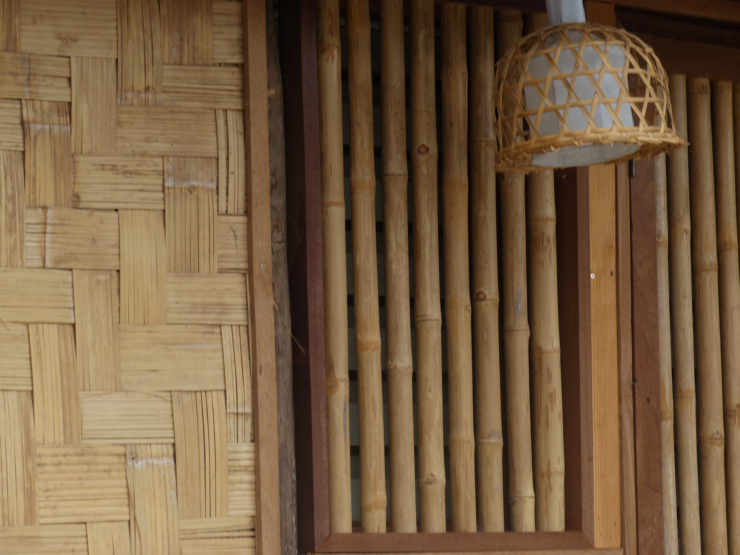 Where did the idea for a home entirely made of bamboo come from?