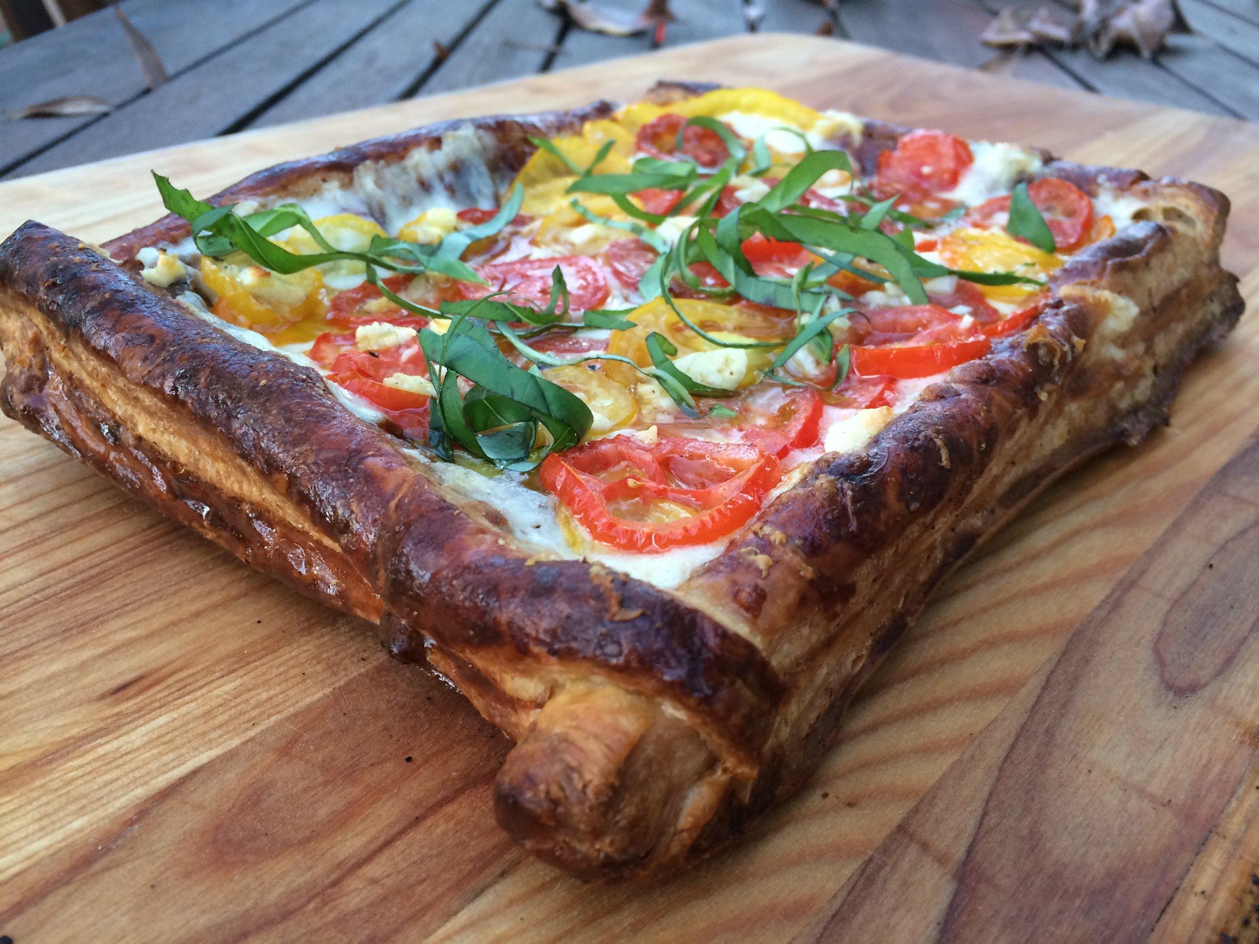 tomato mozzarella tart cook's illustrated