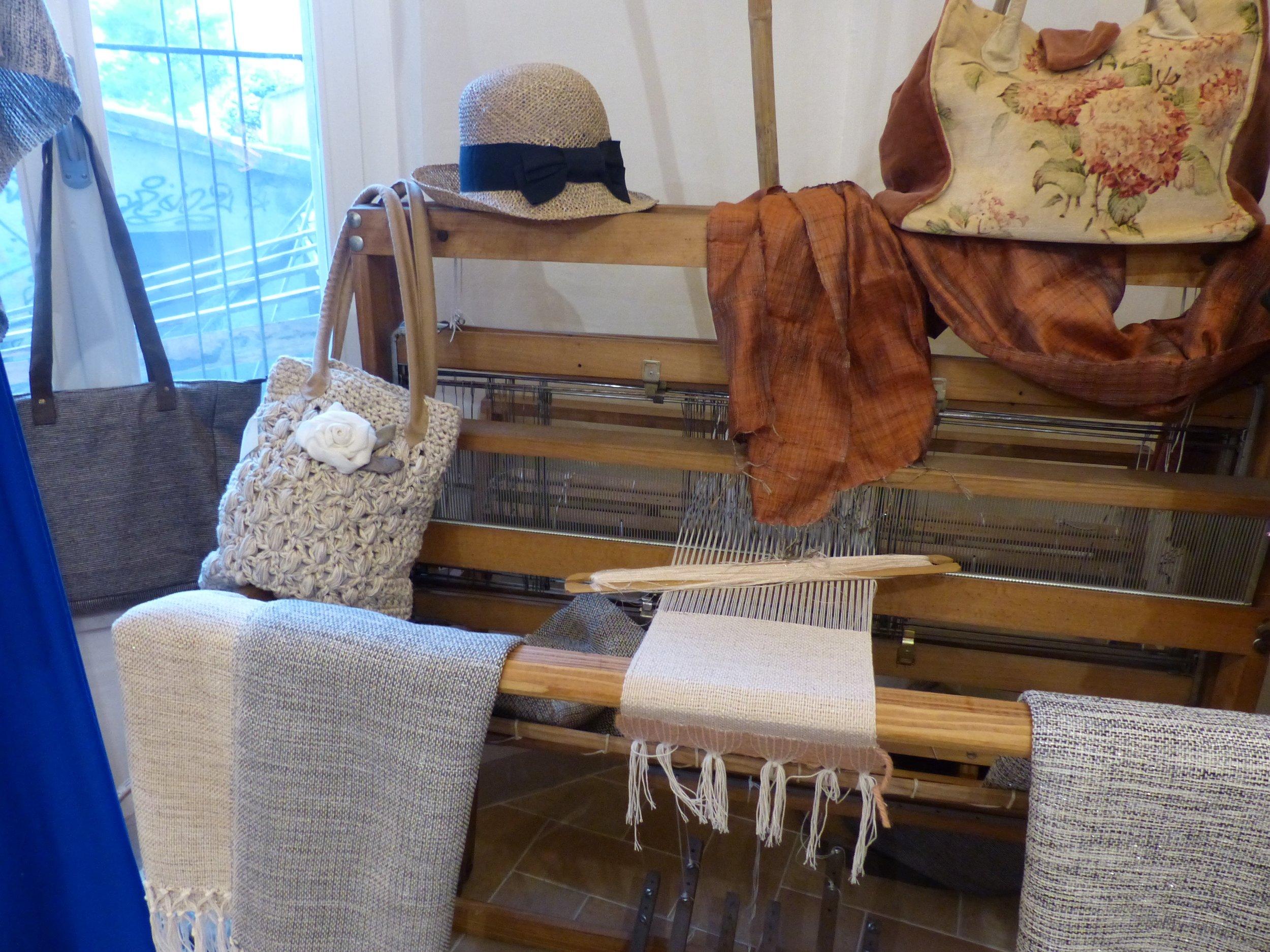 Novel fabrics in Spello, Umbria