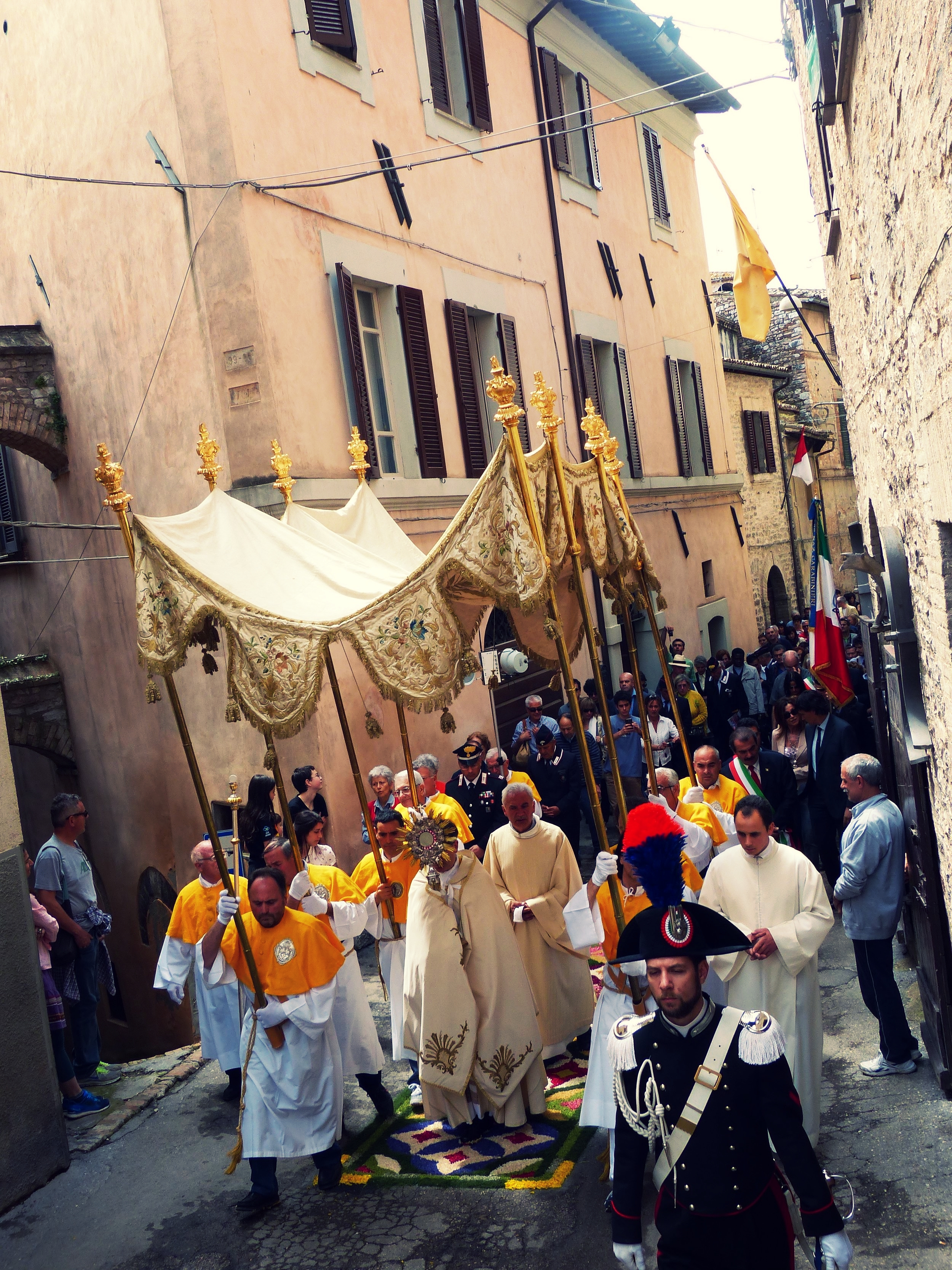 Infiorata procession in Spello, Umbria