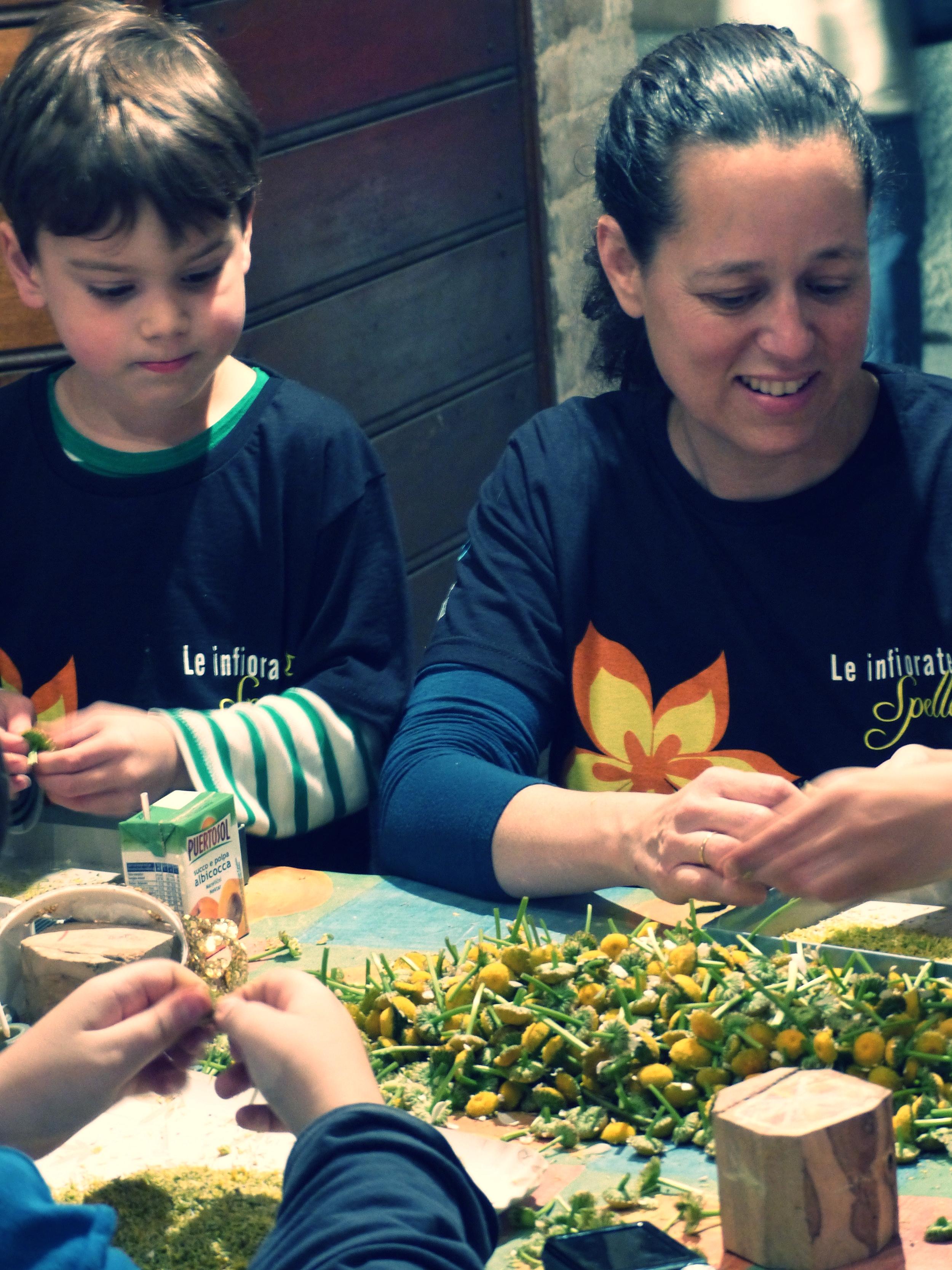 Gabe and Michelle work for Infiorata in Spello, Umbria