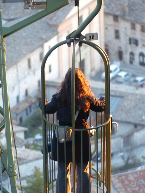 Funnicular in Gubbio, Umbria