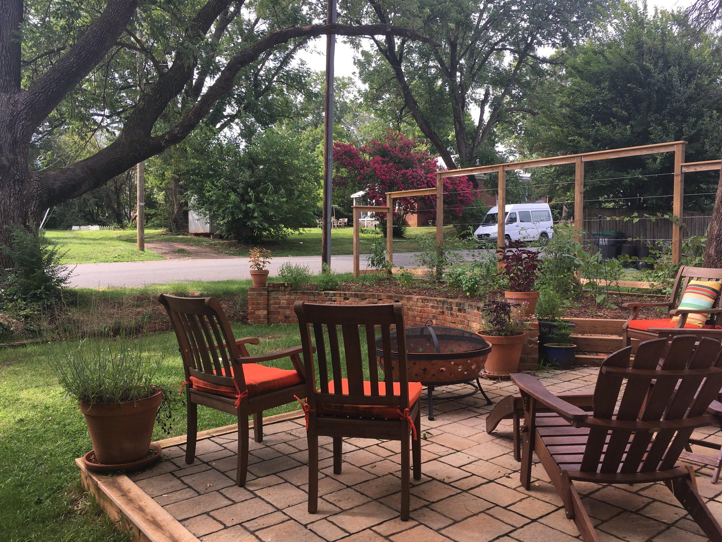 outdoor terrace in Charlottesville VA