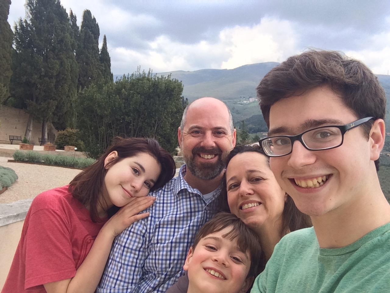 Family in Trevi, Umbria