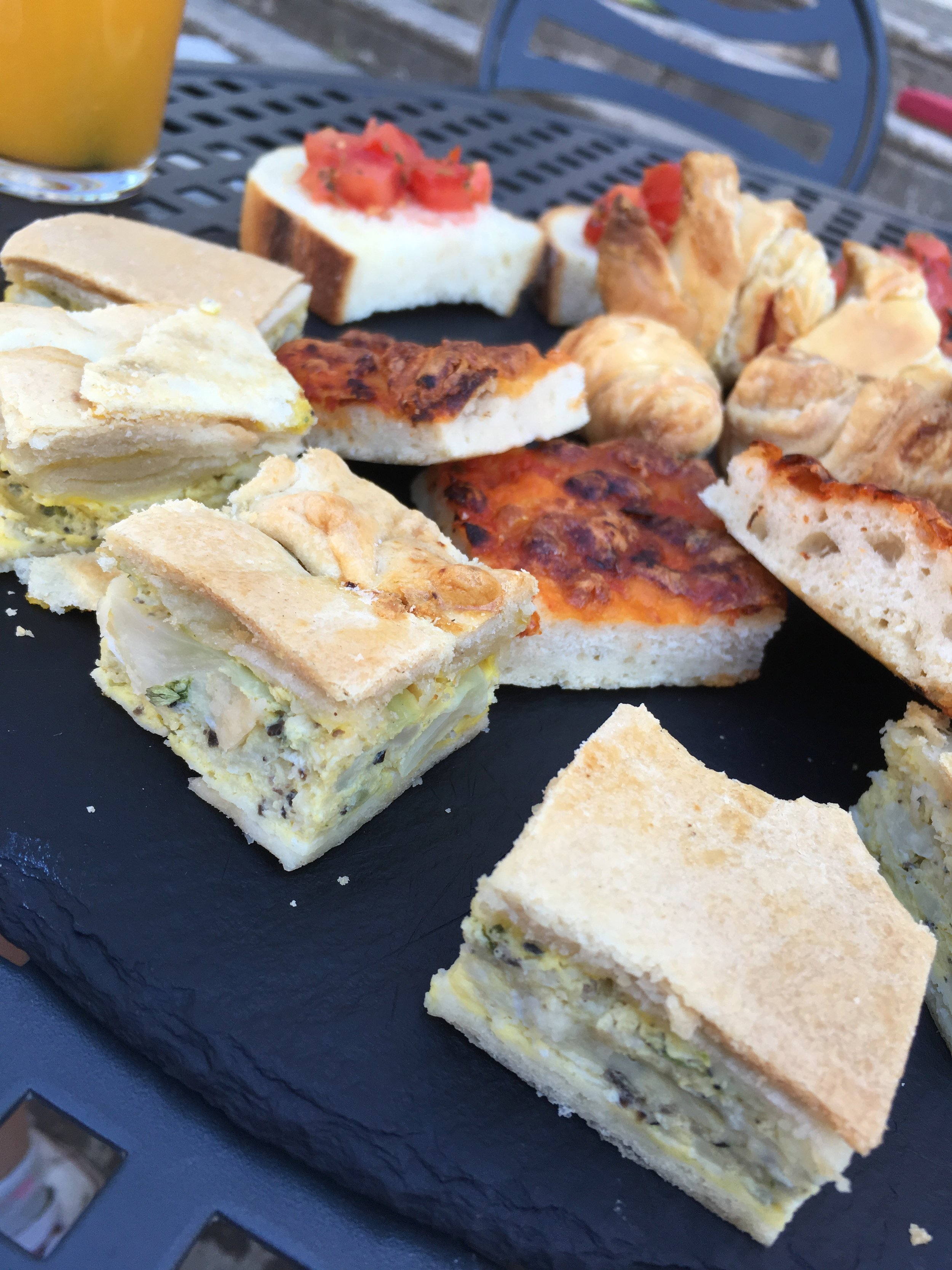 Aperitivi treats in Sulmona, Abruzzo-- I can't get those pastry encased frittata out of my mind! I'll be working on those for my next Spritz party